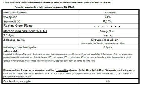 DOSTAWA GRATIS! 86854958 Piec wolnostojący Invicta 8kW Aratos (górna średnica wylotu spalin: 150mm, kolor: antracyt)