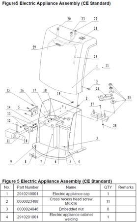 99724819 Wózek paletowy/platformowy podnośnikowy elektryczny GermanTech PL-1100 HST-EL (max wysokość: 85-1200 mm, udźwig: 400 kg, długość wideł: 650 mm)
