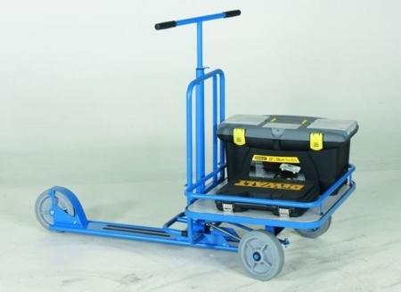 DOSTAWA GRATIS! 99724878 Hulajnoga z platformą GermanTech 690x585 mm, niebieska (udźwig: 150 kg)