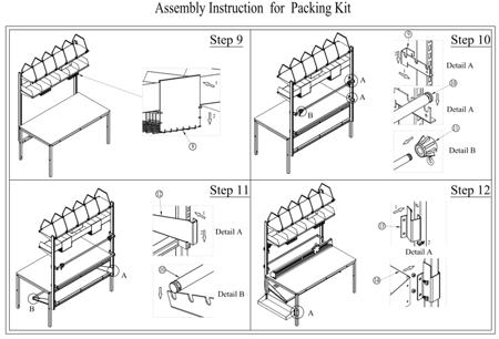 DOSTAWA GRATIS! 99724952 Zestaw do pakowania do stołów roboczych GermanTech 74302 i 74304 (szerokość cięcia: 1300 mm)